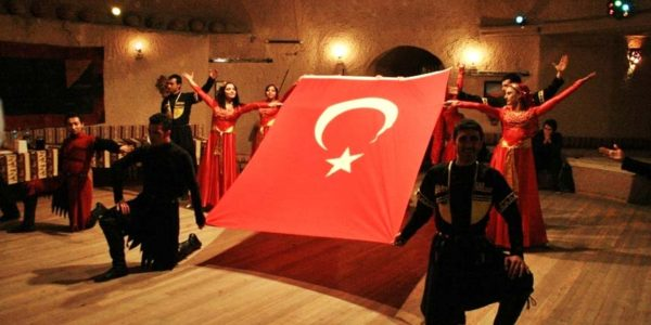 turkish night local people istanbul and cappadocia turkish flag